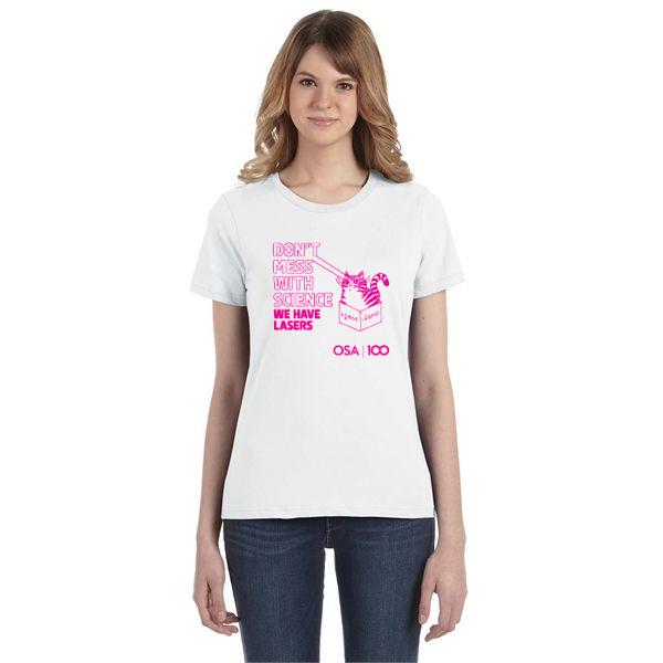 White Laser Cat T-Shirt